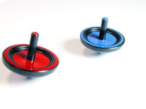 Tops. Spin tops in action Royalty Free Stock Photography