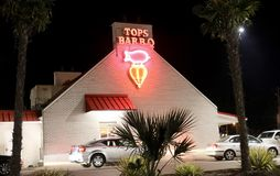 Tops BBQ Memphis, TN. Tops BBQ a Memphis favorite for ribs, sandwiches and homemade hamburgers and cheeseburgers royalty free stock photo