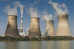 Tops of cooling towers Stock Photography