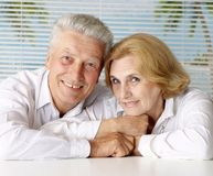 Tops couple at the resort Stock Images