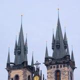 Tops de dos torres Imagen de archivo