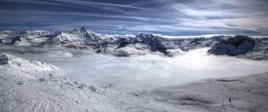 Tops de la montaña Imagen de archivo libre de regalías