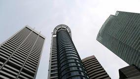 Tops de rascacielos y del cielo almacen de video