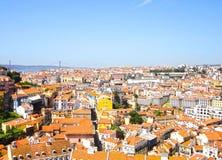 Tops del tejado de Lisboa Fotografía de archivo libre de regalías