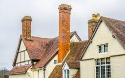 Tops del tejado de los edificios viejos Staffordshire Inglaterra Imágenes de archivo libres de regalías