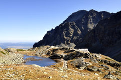 Tops of High Tatras Mountains in Slovakia. Royalty Free Stock Images