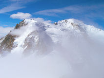 The tops of the Mont Blanc mountain range. Royalty Free Stock Images