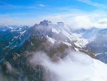 The tops of the Mont Blanc mountain range. Royalty Free Stock Image