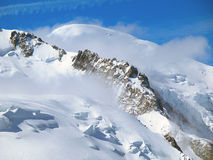 The tops of Mont Blanc mountain range. Royalty Free Stock Photography