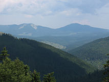 Tops of mountains 2. Beautiful  tops of mountains, Carpathians are Ukraine Royalty Free Stock Image