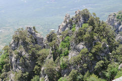The tops of mountains. Royalty Free Stock Photo