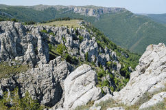 The tops of mountains. Royalty Free Stock Photos