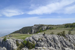 The tops of mountains. Royalty Free Stock Photography