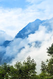 The tops of the mountains. Dombay, Stock Photo