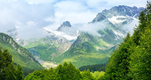 The tops of the mountains. Dombay, Stock Photos