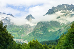 The tops of the mountains. Dombay, Royalty Free Stock Photography