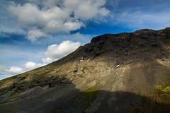 The tops of the Mountains, Khibiny  and cloudy sky. Kola Peninsu. La, Russia Royalty Free Stock Photography