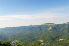 The tops of the mountains in the neighborhood of Gelendzhik, Krasnodar Krai, Russia Royalty Free Stock Images