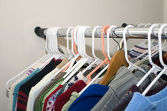 Tops on Rack Royalty Free Stock Images
