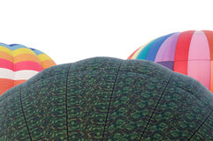 Tops of three hot air balloons Royalty Free Stock Photo