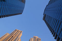 Tops of towers in Dubai Stock Image