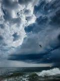 Topsail beach north carolina. Dark clouds Royalty Free Stock Photos