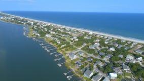 Topsail strand och ljud, North Carolina arkivfoto
