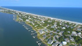 Topsail-Strand und Ton, North Carolina stockfoto