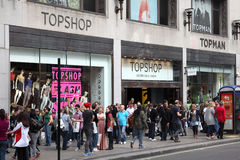 Topshop clothing store Royalty Free Stock Photos
