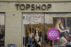 topshop de la venta del 50% Foto de archivo libre de regalías