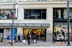 Topshop, Vancouver, B.C. Royalty Free Stock Photos