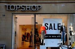 TOPSHOP-VERKAUF BIS ZU 50% WEG Lizenzfreie Stockfotos