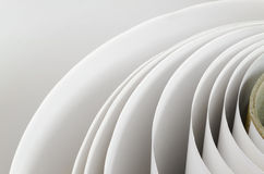 Topshot macro Paper roll in a printshop Royalty Free Stock Photo