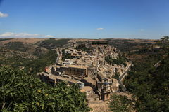 Topside view to Ragusa in Sicily Royalty Free Stock Images