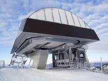topstation för 2 chairlift Fotografering för Bildbyråer