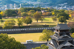 Topview形式福冈城堡 库存图片