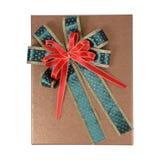Topview подарочной коробки золота Стоковые Фото