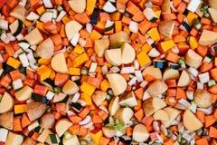 Topview, серии различных свежих и прерванных вегетарианцев, здоровья Стоковые Фотографии RF