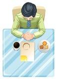 Topview человека на таблице бесплатная иллюстрация