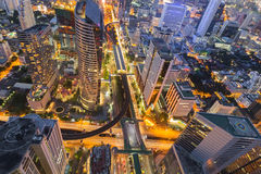Topview of Bangkok office building business downtown Stock Image
