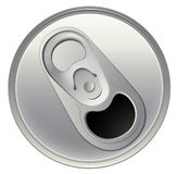 A topview of a beverage can Royalty Free Stock Images
