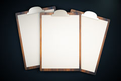 Topview of blanks on black Royalty Free Stock Images