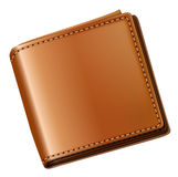 A topview of a brown wallet Stock Photos