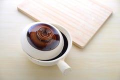 Topview of chinese claypot utensils Stock Photography