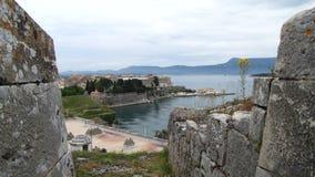 Topview ciy Corfu Fotografia Stock