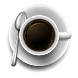 A topview of a cup of coffee Stock Photography