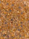Topview dei fiocchi e delle monete della foglia di oro immagini stock libere da diritti