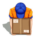 A topview of a delivery man Stock Photography