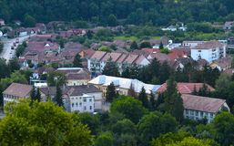 Topview di Sighisoara Immagine Stock