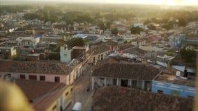TopView en los tejados de teja roja Imagen de archivo libre de regalías